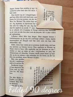 I just absolutely love creating my own folded book art. It's such a fun way of re-using old books and give them another purpose. I've searched and searched the...