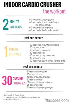 indoor cardio crusher