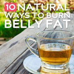 10 Natural Ways To Burn Belly Fat | Health & Natural Living
