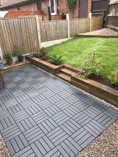 24 Backyard Patio Extension Ideas Ikea runnen decking tiles used to create a new garden Outdoor Patio Flooring Ideas, Outdoor Deck Decorating, Outdoor Patio Designs, Ikea Patio, Diy Patio, Backyard Patio, Backyard Landscaping, Wood Patio, Patio Stone