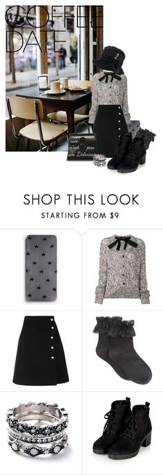 """""""Or Tea."""" by thea-goulas ❤ liked on Polyvore featuring Express, Coffee Shop, Rochas, Gucci, HUE, Delvaux, WithChic and CoffeeDate"""