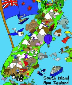 South island puzzle Floor Puzzle, South Island, Comic Books, Flooring, Comics, Toys, Cards, Activity Toys, Clearance Toys