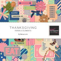 Thanksgiving Bundle by Marisa Lerin   Pixel Scrapper digital scrapbooking
