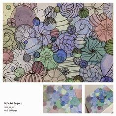 MJ: Lollipop  #Watercolor #Pen #Mixedmedia #Artproject