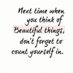 I have a beautiful soul.