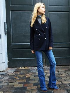 Photo (Fashion Gone rouge) Style Désinvolte Chic, My Style, Classic Style, Fall Winter Outfits, Autumn Winter Fashion, Winter Style, Marine Jeans, Casual Chic, Estilo Tomboy