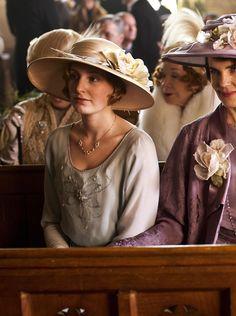 Laura Carmichael as Lady Edith Crawley in Downton Abbey (TV Series, 2012).