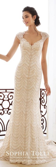 Wedding Dress by Sophia Tolli for Mon Cheri Bridals #weddingdress #weddingdresses #bridalgown #bridalgowns #bride #bridal #weddings