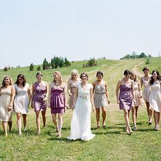 Shades of Purple - Purple Bridesmaid Dresses - Southern Living