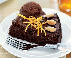 Flourless Chocolate-Orange Almond Cake Recipe at Epicurious.com