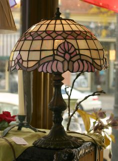 Pretty Tiffany Style Table Lamp by TwoifbySeaGallery on Etsy