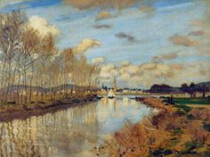 Claude Monet (French Impressionism, 1840-1926), Argenteuil, Seen From the Small Arm of the Seine, 1872