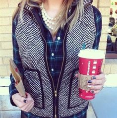 Flannel + vest = perfect outfit!