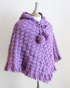 Picture of Puff Shell Poncho Crochet Pattern