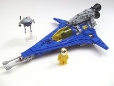 Classic Space-themed fighter (looks sort of like a Viper.) #LEGO #space