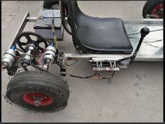 building electric go kart 775 at home v and 24 v and reverse Electric Kart, Electric Bike Kits, Build A Go Kart, Diy Go Kart, Triumph Motorcycles, Custom Motorcycles, Youtube Go, Custom Go Karts, Go Kart Kits