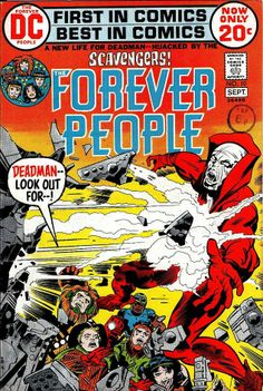 Forever People with Deadman, Very Fine Condition. This 1972 issue of DC Comics, Forever People with Deadman is in Very Fine condition.Jack Kirby artwork and story. Comic Book Pages, Dc Comic Books, Comic Book Covers, Comic Art, Jack Kirby Art, Nostalgia, Fourth World, Fantasy Comics, Film D'animation