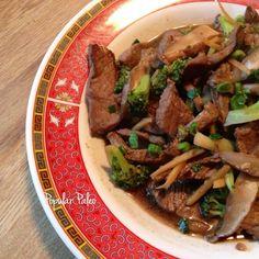 Ginger Beef with Broccoli & Portobellos #PopularPaleo