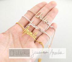 Écriture bijoux • écriture Bracelet • personnalisé cadeau • Noël cadeau • souvenir bijoux • Signature Bracelet • maman cadeau • BH01