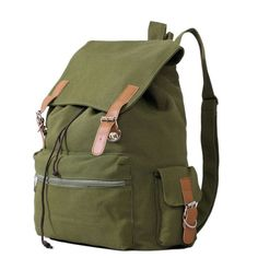 bf80eff019f6 New 2014 Korean Leisure travel canvas bag backpack shoulder bag rucksack  95406