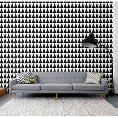 Black Triangle Layers Wall Decal