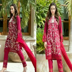 This Full Embroidered Ruby Shirt From #MauSummeryByHuma Luxury Lawn Eid Collection on Sana Javed of #MehrunisaVLubU is Perfect For This Eid ❤ #Gorgeous #Elegant #LuxuryLawnCollection #RubyRed #MauSummeryByHuma #Model #SanaJaved #EidCollection17 #SummerCasual #SummerEidCollection #PakistaniFashion #PakistaniCelebrities  ✨