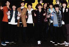 Hey! Say! JUMP HSJ Yuya Takaki , Daiki Arioka , Ryosuke Yamada ,  Yuto Nakajima , Yuri Chinen ,  Kota Yabu, Kei Inoo, Hikaru Yaotome, Keito Okamoto