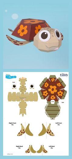 Turtle tortue en papier. Printable