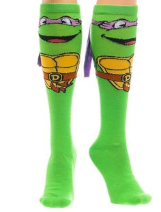 Teenage Mutant Ninja Turtles Donatello w/ Mask Women's Knee High Socks