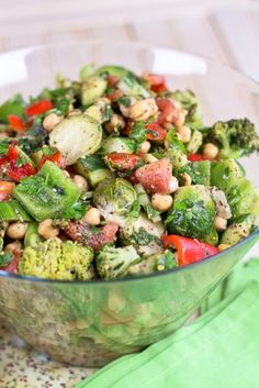 Veggie Overload Chickpea Salad | by Sonia! The Healthy Foodie - had trouble finding a couple of ingredients that I had to leave out or sub for (sumac, sherry vinegar), but I was able to get za'atar and sambal oelek at a Mediterranean market.