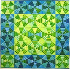 "Kaleidoscope Free Pattern that uses ""stripey"" fabric"