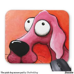 The pink dog mouse pad