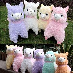 ice-cream color Arpakasso Alpacasso Alpaca Ribbon stuffed Toy Plush Doll Big new