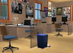 It's all about clutter, Office for the editorial staff of Sims State...