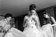 bride in her wedding dress - emotional wedding day moment