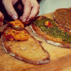 «Tartines on Poilane bread. What do you fancy? vegetable confit? foie gras? pesto? burrata? #chezcharles #gourmet #mydubai #food #love #foodie #recipe…»