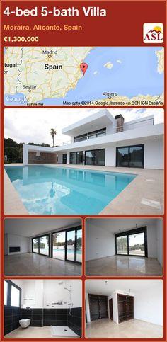 4-bed 5-bath Villa in Moraira, Alicante, Spain ►€1,300,000 #PropertyForSaleInSpain