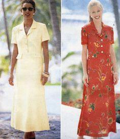 Butterick Sewing Pattern 4970 Misses/Misses Petite Dress Size 12-14-16 Uncut