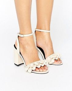 Miss Selfridge Ruffle Heeled Sandal