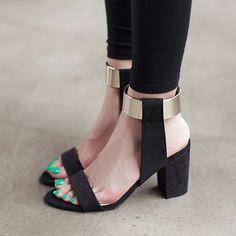 Now available on our store. High Heels Sandal...  http://designsbyzuedi.myshopify.com/products/high-heels-sandals-women-ankle-strap-gladiator-shoes-2017-summer-black-glitter-bling-square-heel-sandalia-feminina-salto-alto?utm_campaign=social_autopilot&utm_source=pin&utm_medium=pin