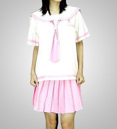 Cosplay Japanese School Girl White And Pink School Uniform Buy Japanese School Uniform, Sailor Fashion, School Fashion, Cosplay Costumes, Style Inspiration, School Uniforms, Pink, Corner, Dresses