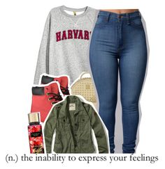 """Untitled #807"" by raeebabyy ❤ liked on Polyvore featuring H&M, MCM, Timberland and Hollister Co."