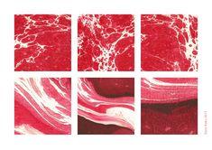 Marbling &Meat on Behance Marbled Meat, Collages, Meat Art, Design Art, Graphic Design, Red Aesthetic, Art Studies, Art Portfolio, Texture Art