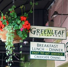 Greenleaf for breakfast, Ashland, OR