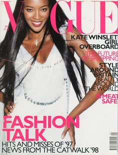 Naomi Campbell by Regan Cameron Vogue UK January 1998