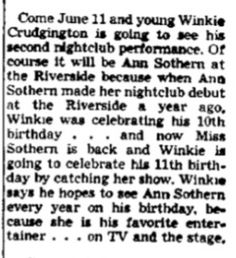 Cleve Crudgington Winkie from Reno Evening Gazette 8 Jun 1955