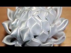 Мастер класс Астра Канзаши/Kanzashi (Идея к 1-му сентября, цветы из атласной ленты)