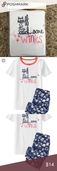 Gymboree Gymmies new with tag size 5 OWLS NWT tags Gymboree Gymmies size 5 (also have a size 6 sister set in separate listing). Owls, these are short sleeve top and short leg bottom. Sfpf home Gymboree Pajamas Pajama Sets