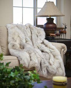 Scandanavian Blue Fox Blanket | True North Furs