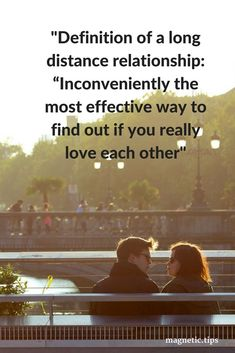 If you love each other distance won't matter as you'll make it work. Read my blog post to discover how to make long distance relationships work. #LongDistance